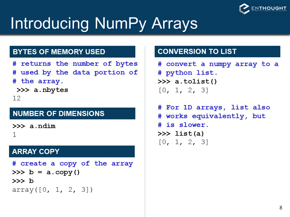 NumPy (and SciPy) Travis E  Oliphant Enthought, Inc  - ppt