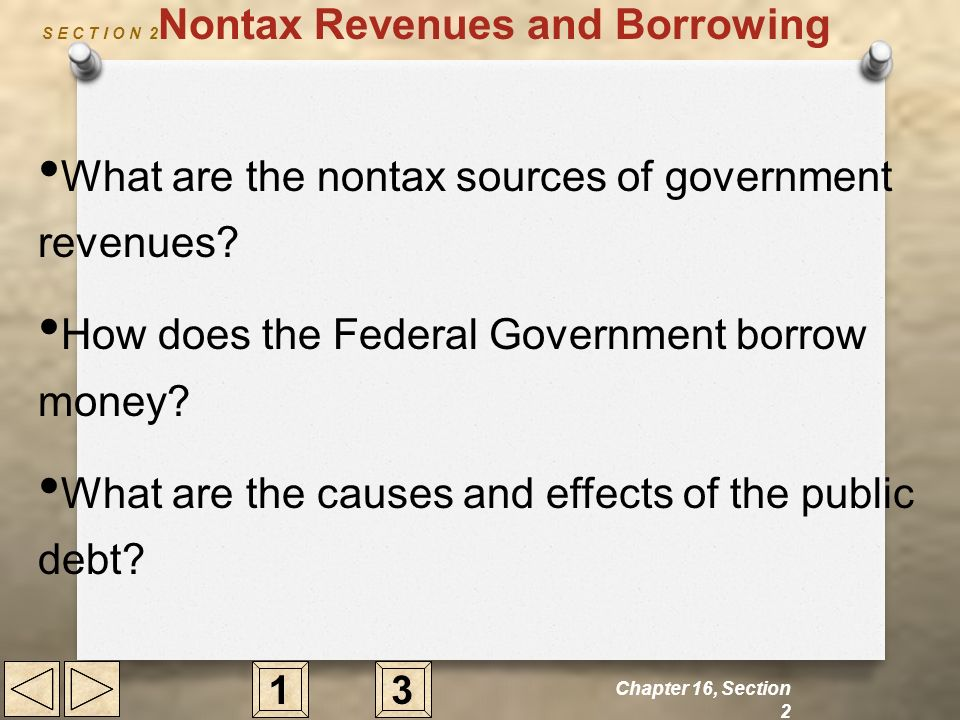 S E C T I O N 2Nontax Revenues and Borrowing