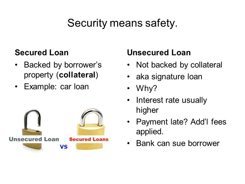 Unsecured Loan Definition >> Lending Banking Finance Ppt Download