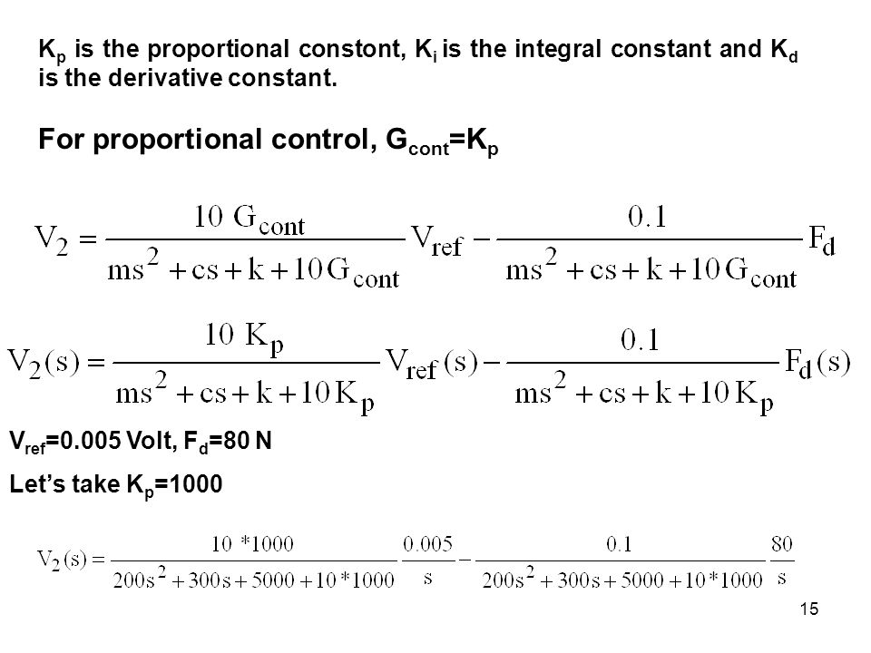 how to find kp ki kd from transfer function