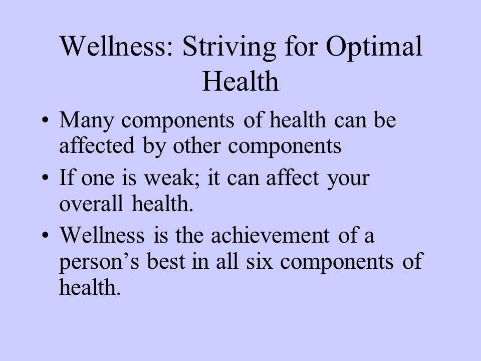 six components of health