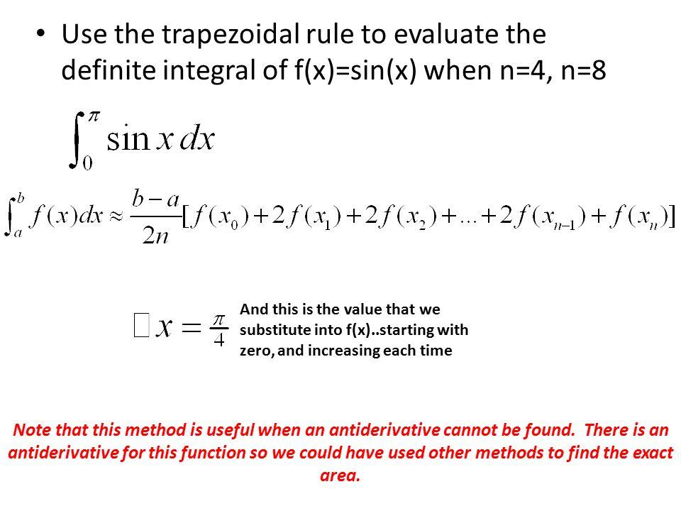 Presentation on numerical method (trapezoidal method).