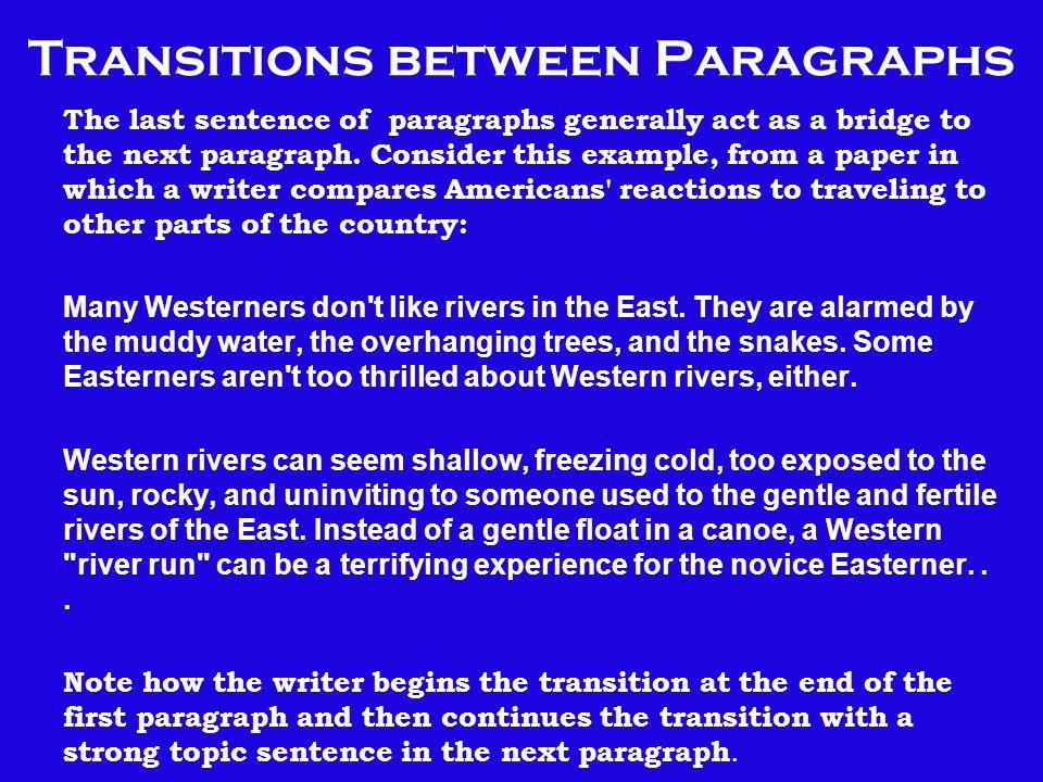 Essay Transition Sentences Between Paragraphs | Mistyhamel