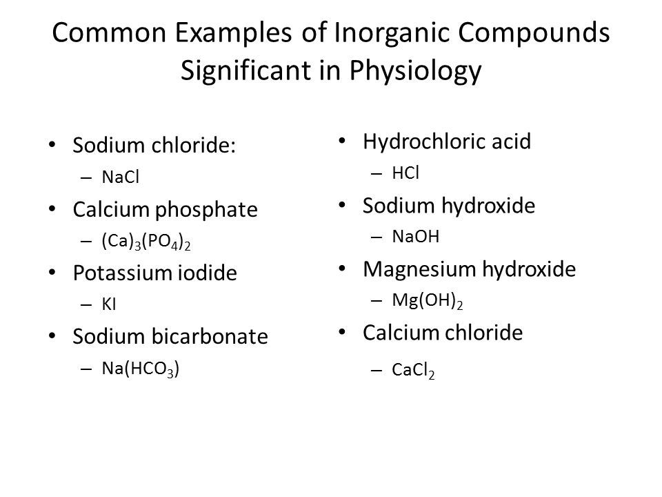 Inorganic Compounds Chemical Bonds Solutions And Ph Ppt Video