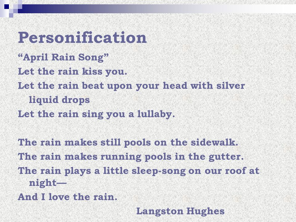 Lyric rain song lyrics : Personification. - ppt video online download