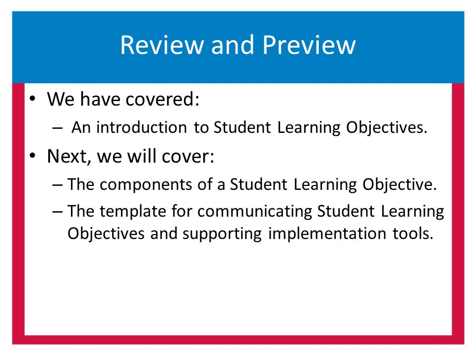 Student Learning Objectives Anatomy of an SLO - ppt download