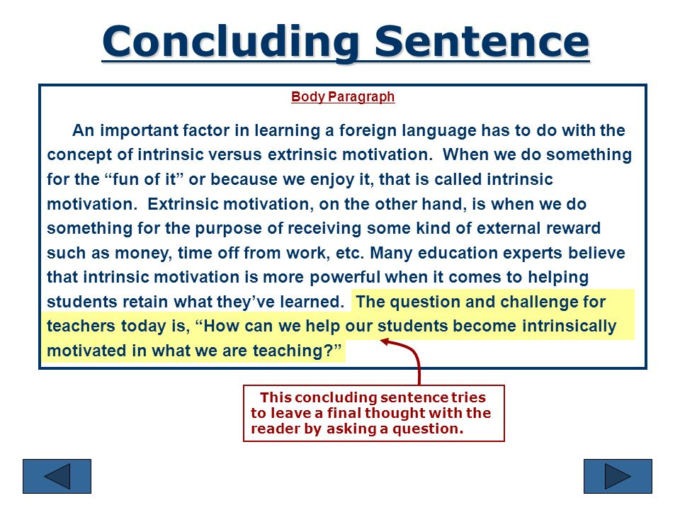 use conclude in a sentence