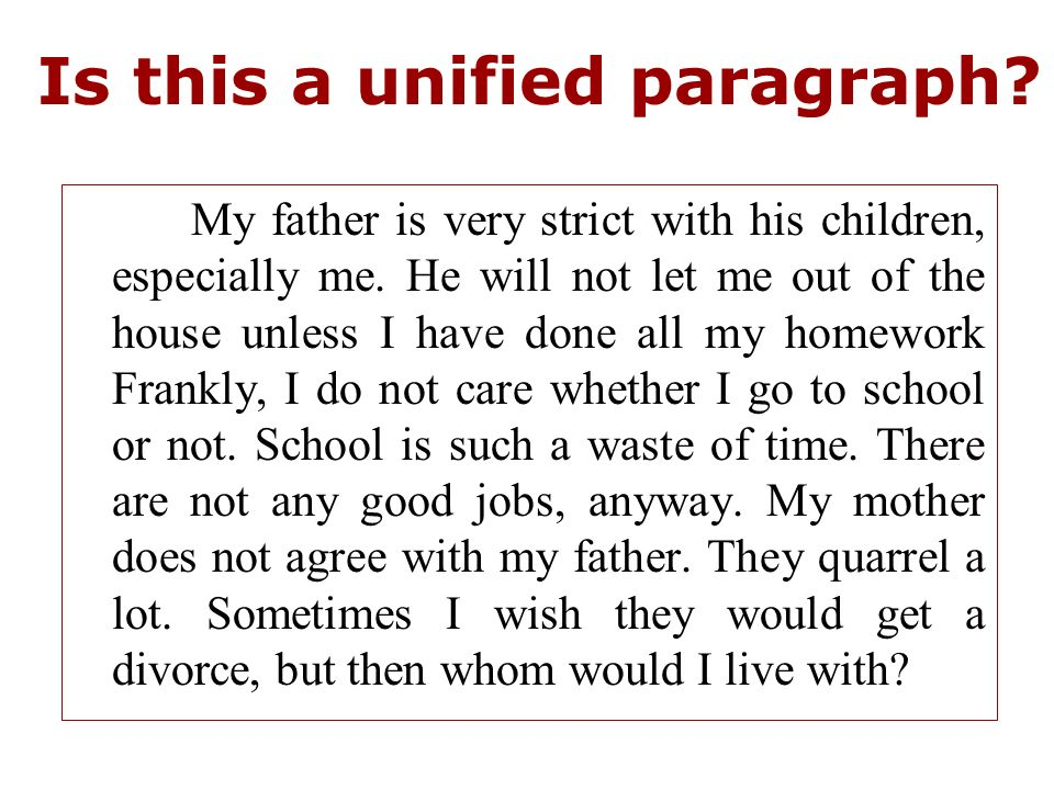 paragraph on my father