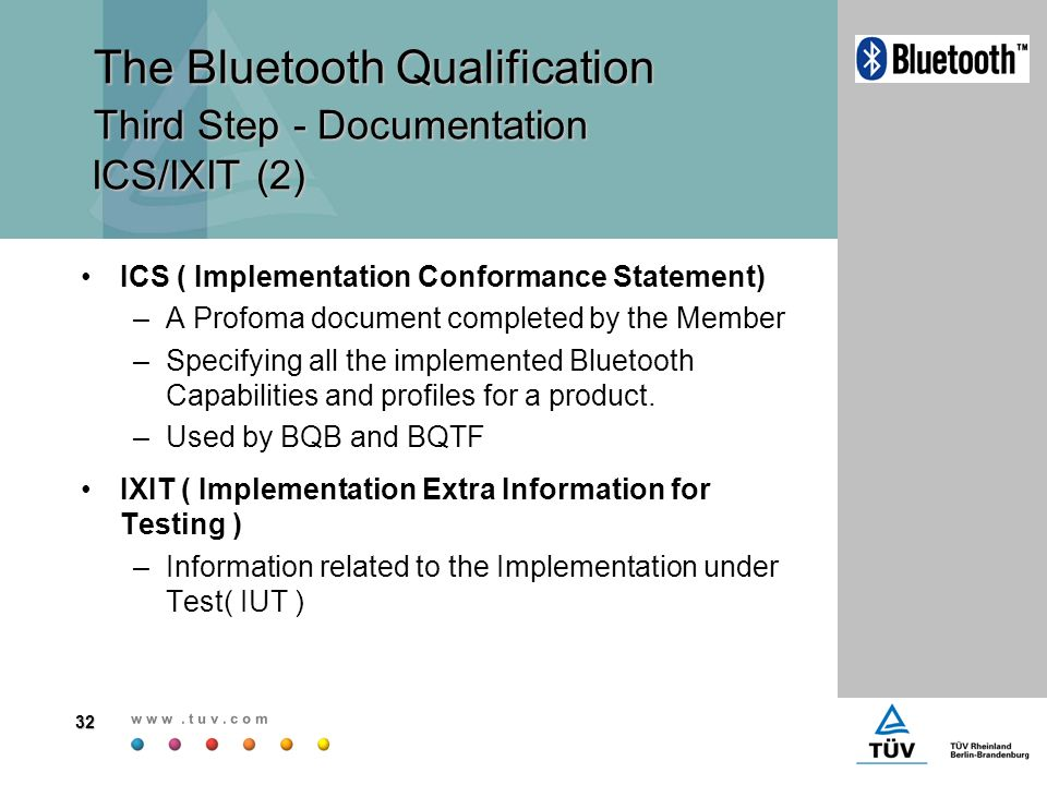 Contents General understanding The Bluetooth Qualification - ppt