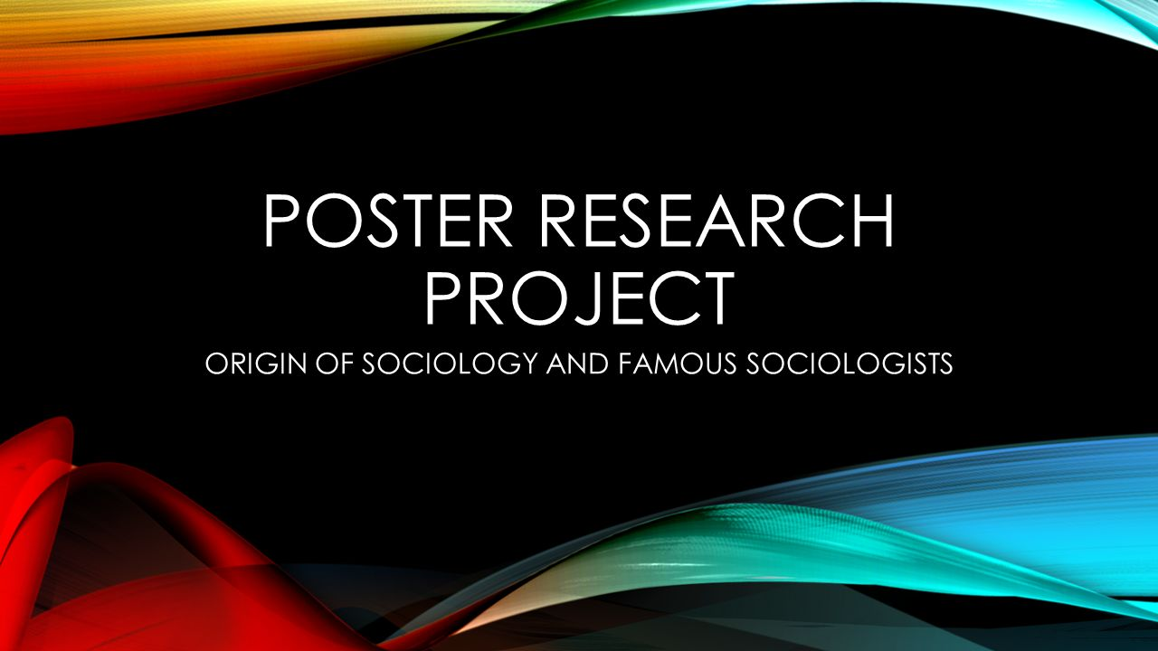 Poster research project