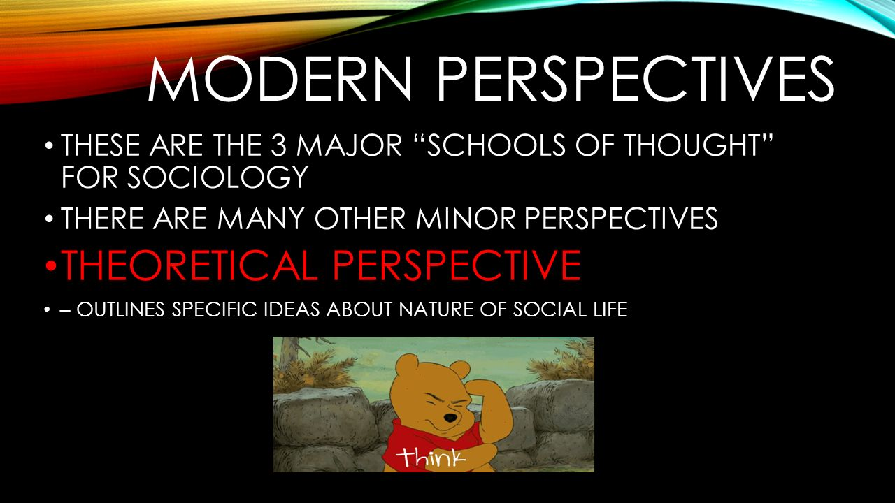 Modern perspectives THEORETICAL PERSPECTIVE