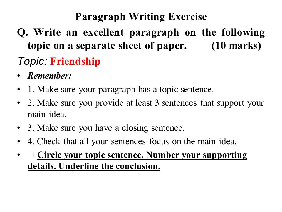 how to find the topic sentence of a paragraph