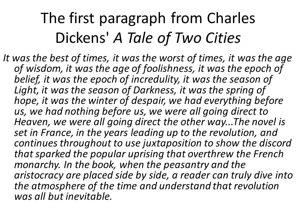 opening paragraph of a tale of two cities