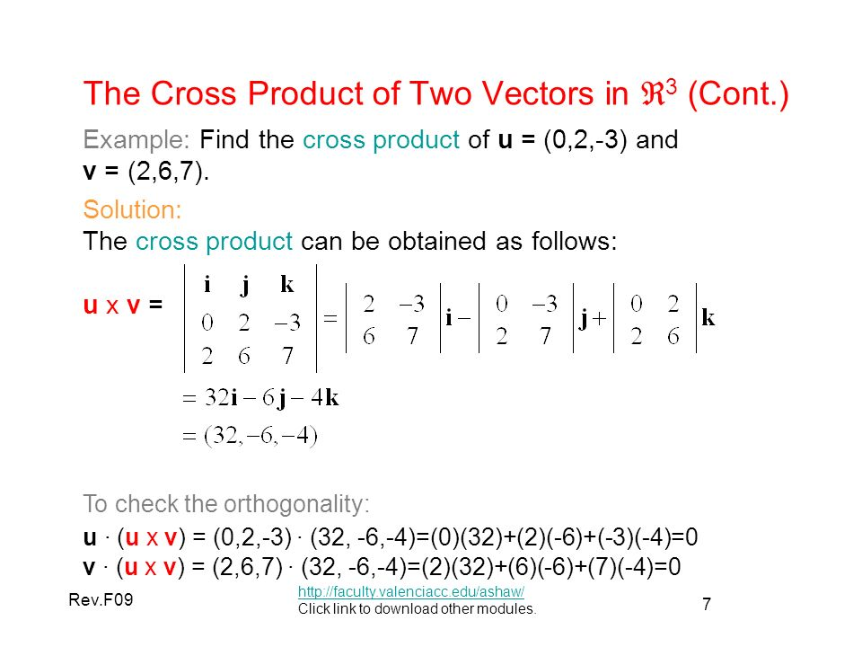 how to find the wronskian of two vectors