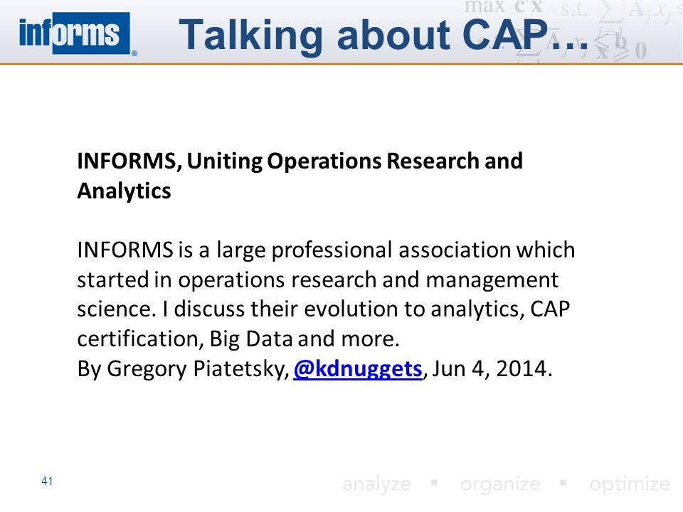 Certified Analytics Professional Cap Program Ppt Video Online
