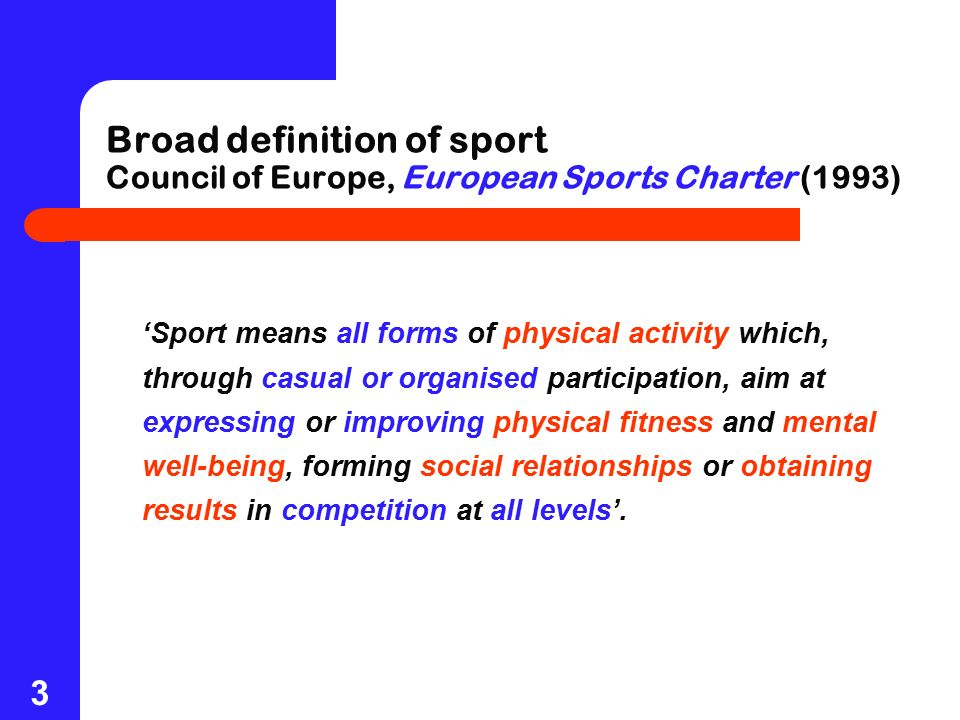sports management and sports development ppt download
