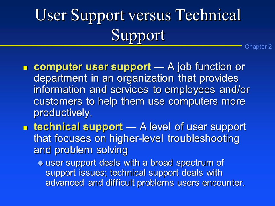 Chapter 2: Introduction to Computer User Support - ppt download