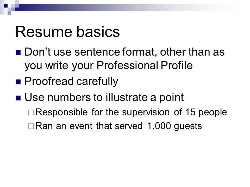 How To Write A Resume Ppt Video Online Download
