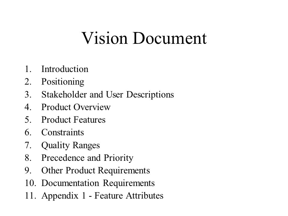 6 Vision Document Introduction Positioning