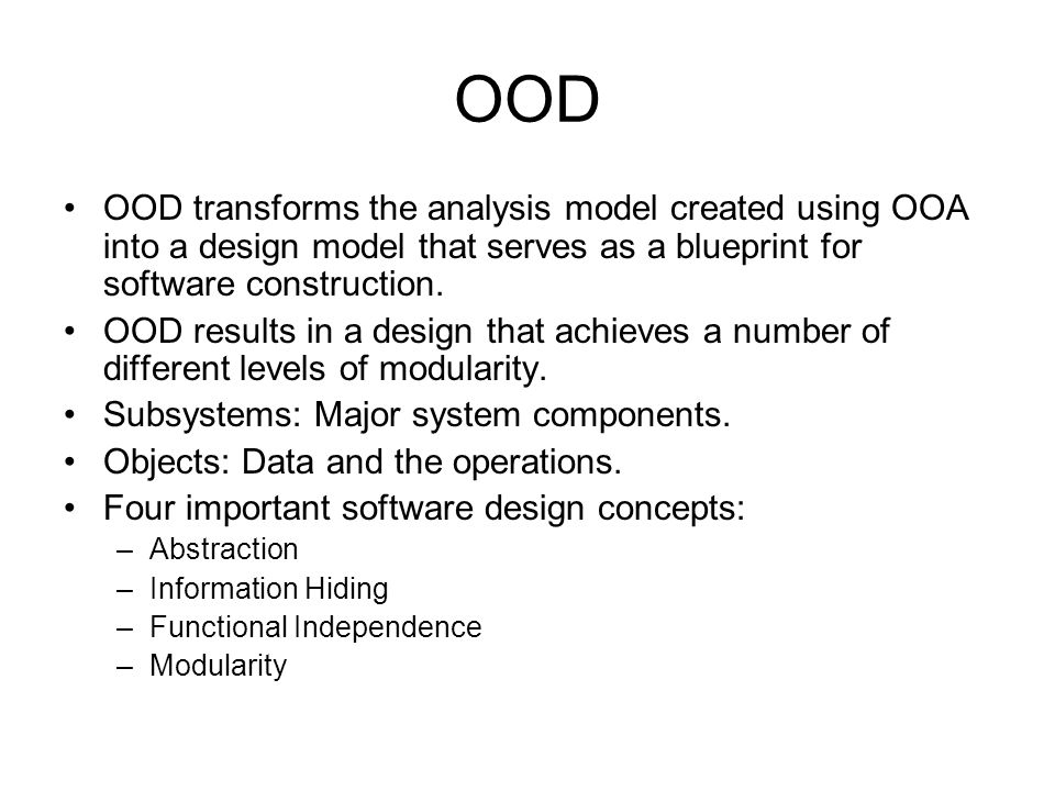 Object oriented analysis design ppt download 27 ood malvernweather Images