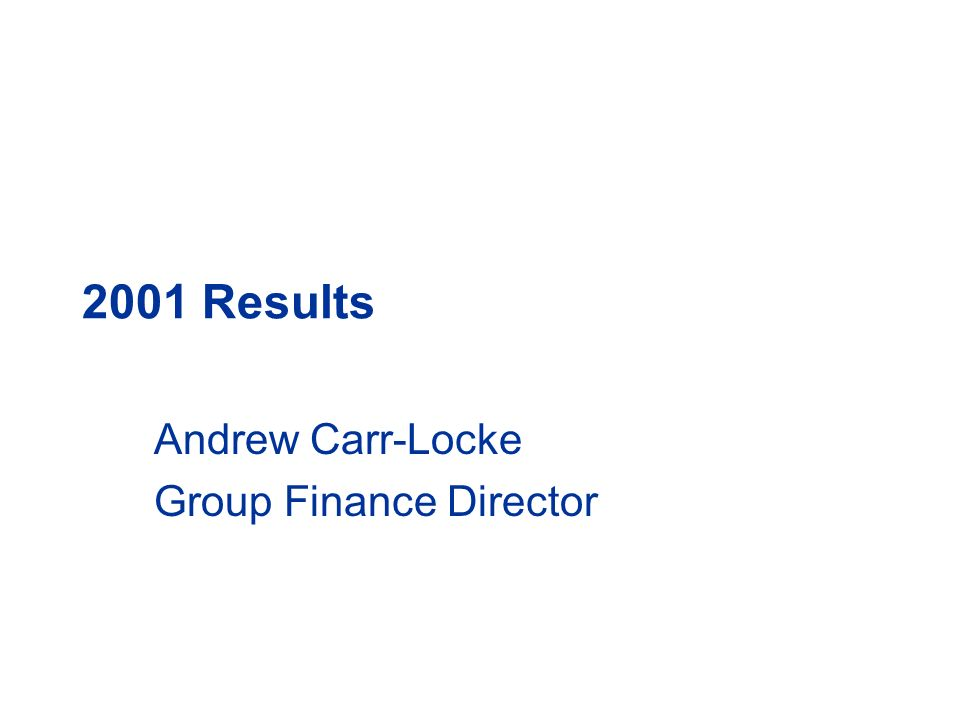 Andrew Carr-Locke Group Finance Director