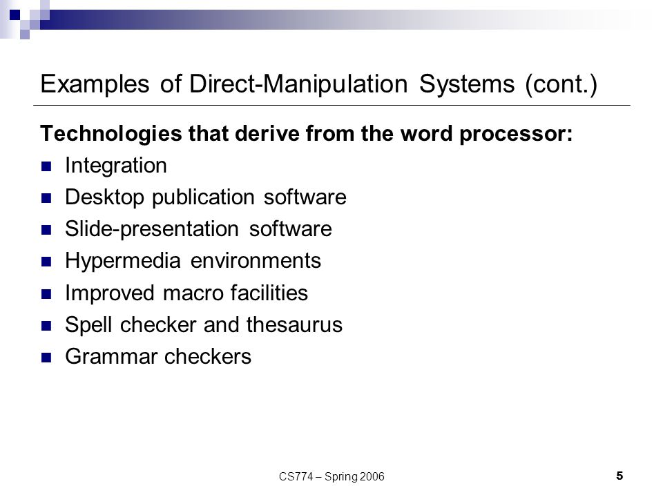 Direct Manipulation Lecture ppt video online download