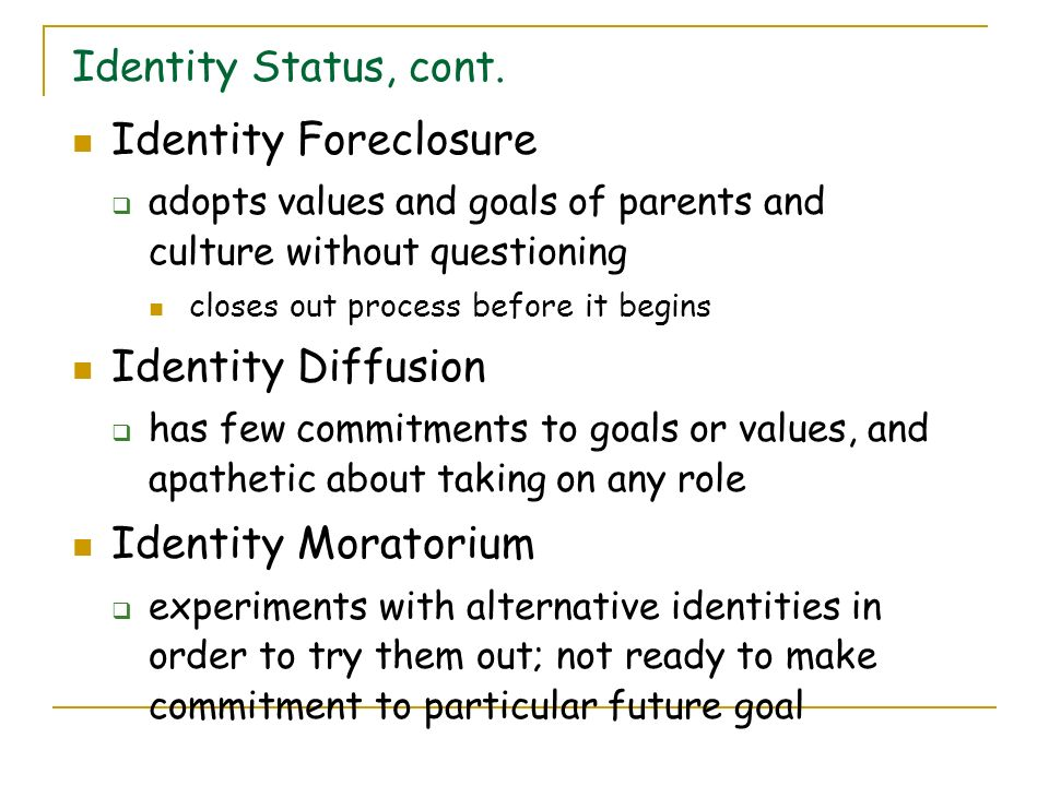 identity foreclosure example