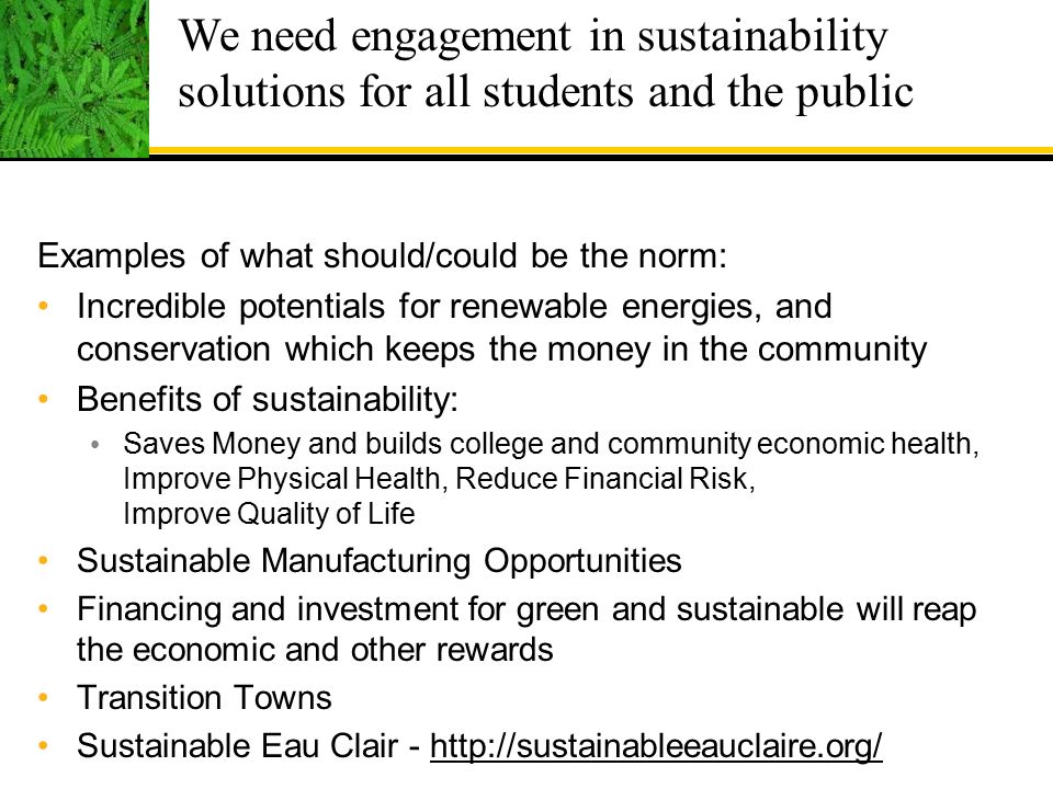 Education And Action For A Sustainable Future Ppt Download