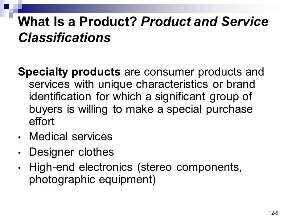 What Is a Product Product and Service Classifications