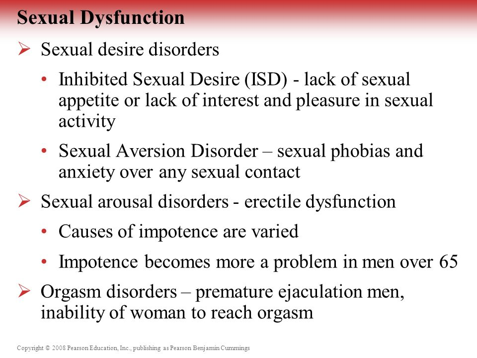 Sexual dysfunction lack of desire