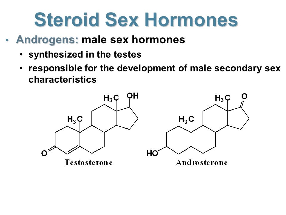 Steroids cholesterol and sex hormones