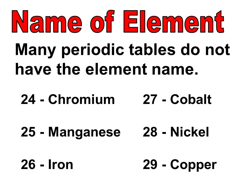 Pass Content Standard 12 An Element Is Composed Of A Single Type Of
