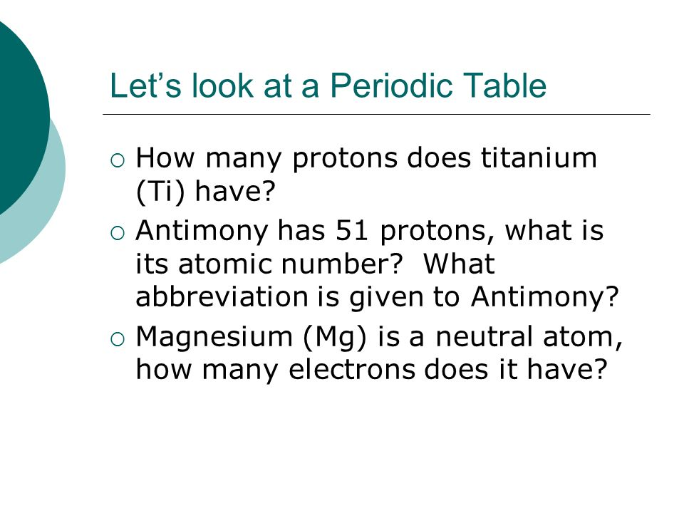 Atoms a closer look at elements ppt video online download lets look at a periodic table urtaz Images