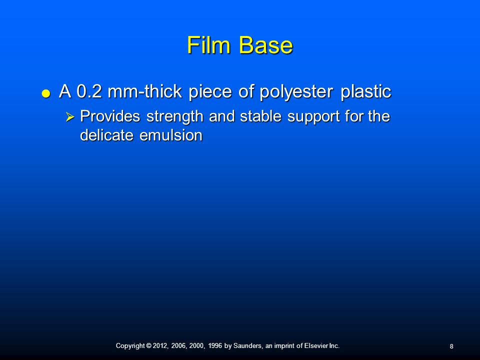 Chapter 7 Dental X-Ray Film  - ppt video online download