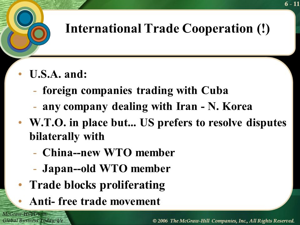 International Trade Cooperation (!)