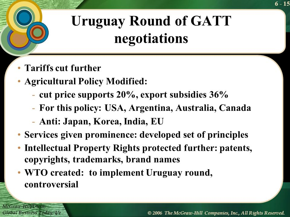 Uruguay Round of GATT negotiations
