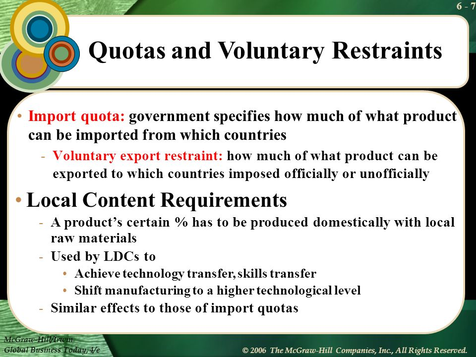 Quotas and Voluntary Restraints