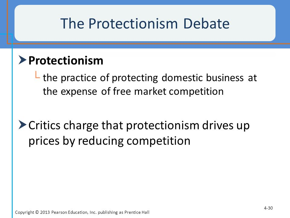 The Protectionism Debate