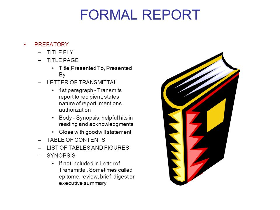 Lecture seven chapter six ppt download formal report prefatory title fly title page spiritdancerdesigns Choice Image