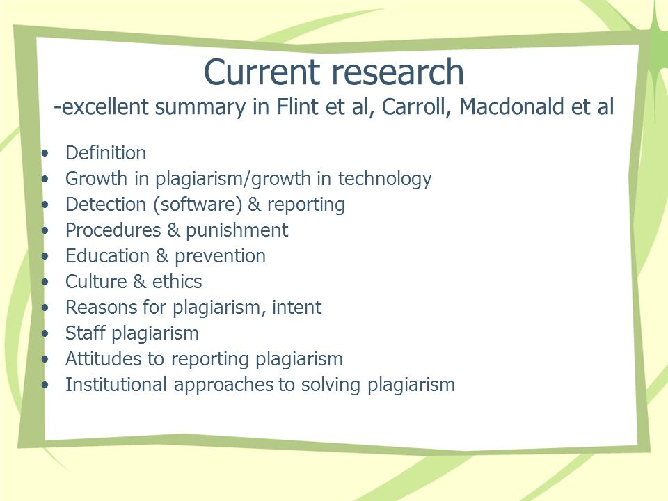 Current research -excellent summary in Flint et al, Carroll, Macdonald et al