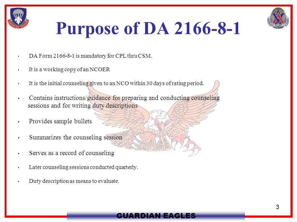 Ncoer Ncoer Purpose Of Da Da Form Is Mandatory For Cpl Thru Csm It