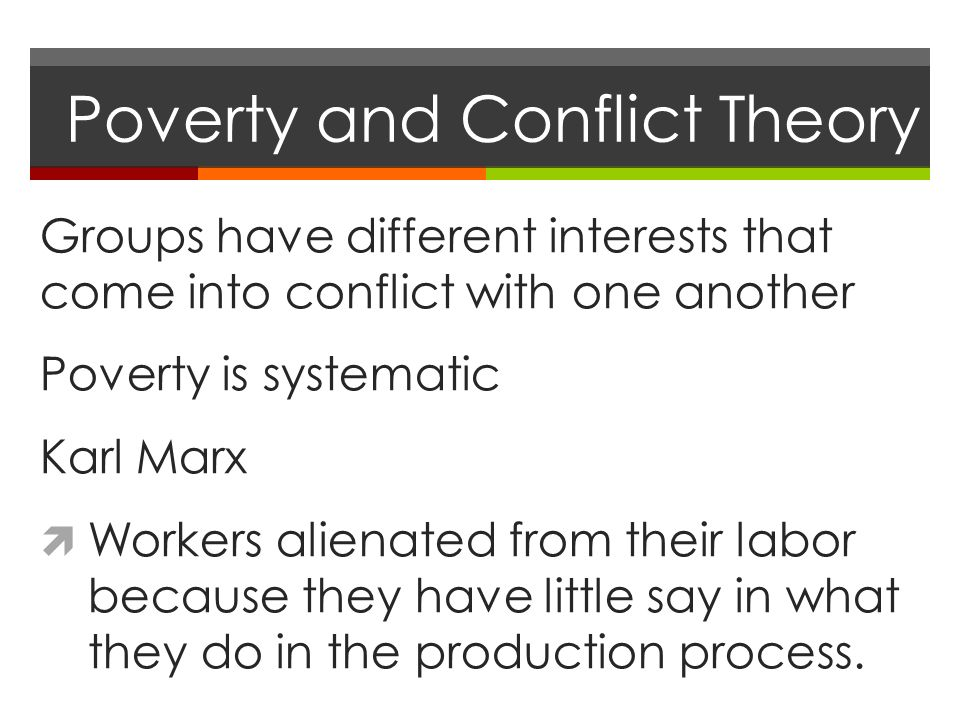 conflict theory on poverty