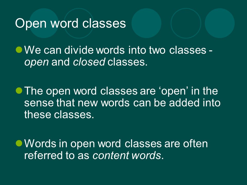 Word Classes  - ppt video online download