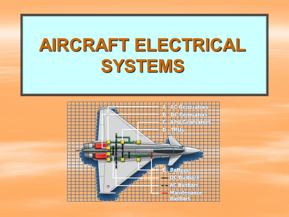 AIRCRAFT ELECTRICAL SYSTEMS - ppt download