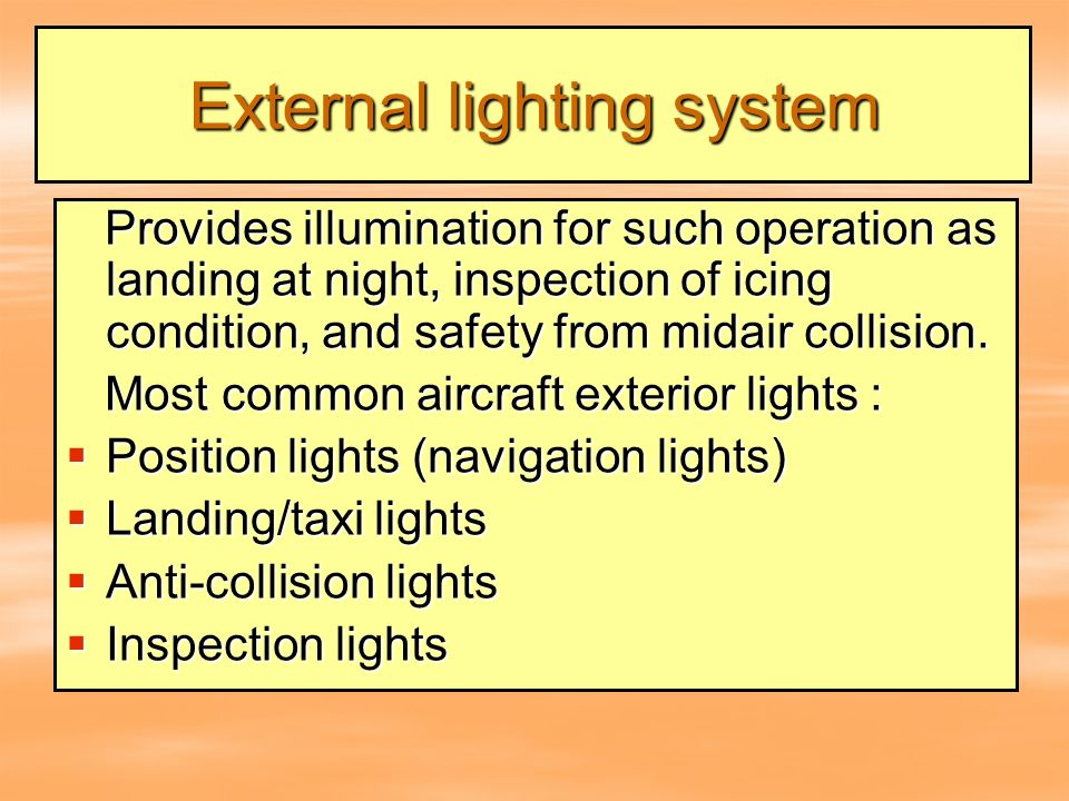 Aircraft Electrical Systems Ppt Download