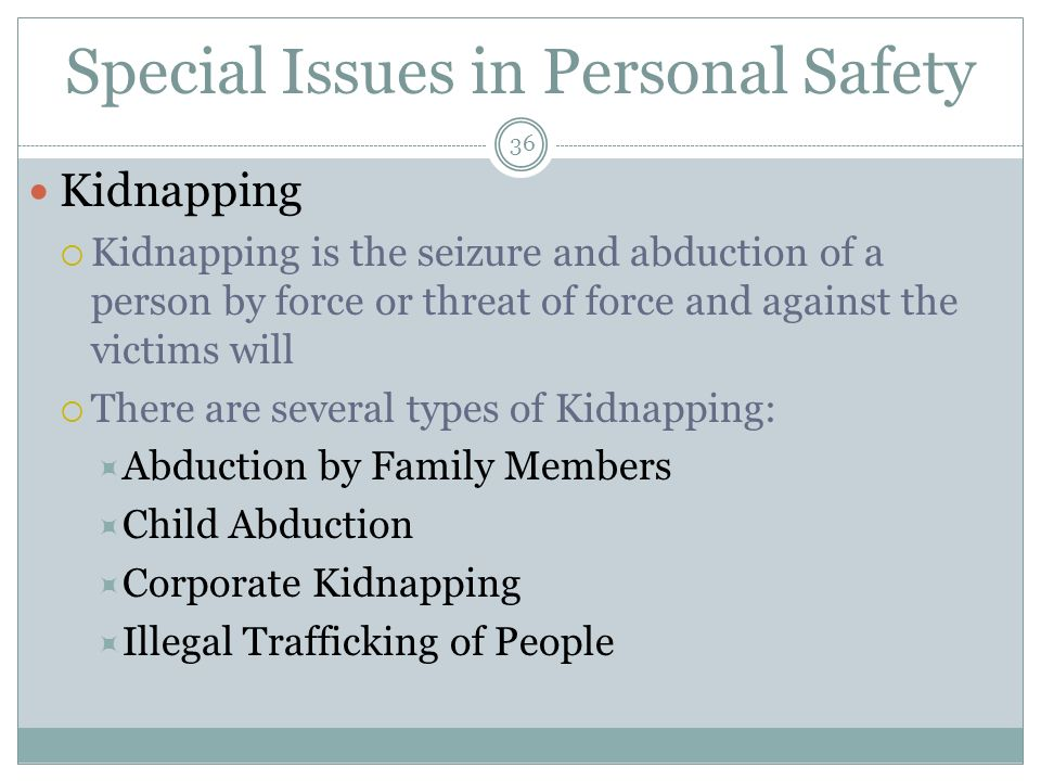 Chapter Eight Personal Security - ppt download