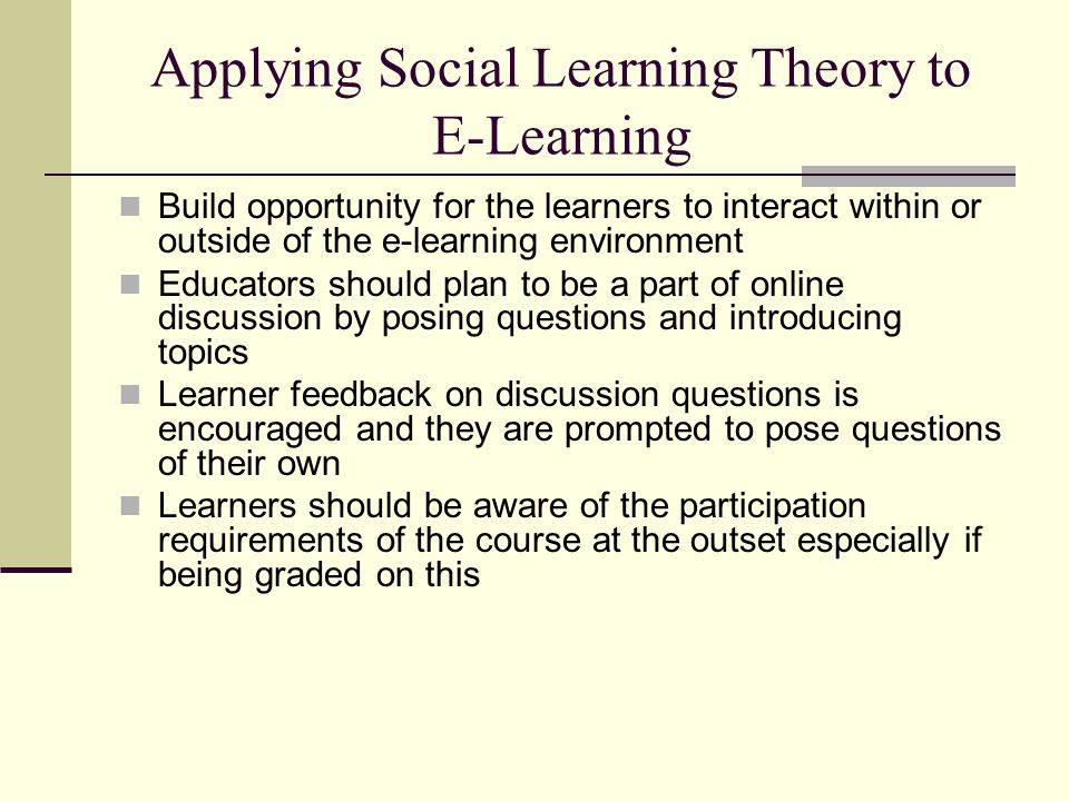 e learning and discussion question Home learn  e-learning  frequently asked questions about hrea's e-learning courses 1 what e-learning courses does hrea offer hrea offers two types of courses rapid e-courses are introductory, take between three and five hours to complete and are completely self-directed (you.