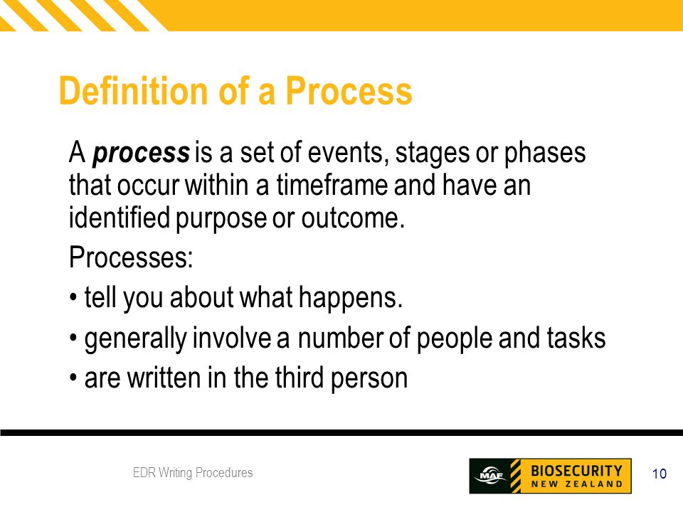 writing processes and procedures