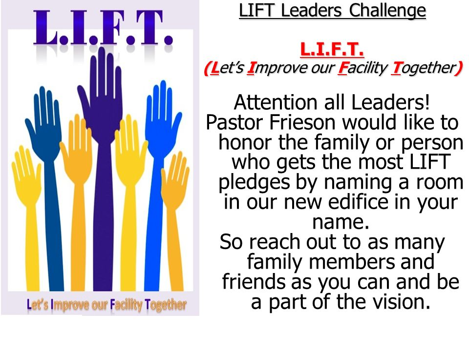 LIFT Leaders Challenge