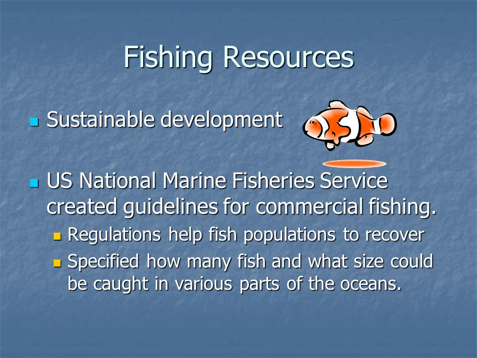 Fishing Resources Sustainable development
